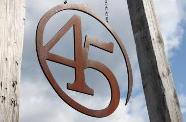 Le 45ème parallèle à Leelanau aux États-Unis