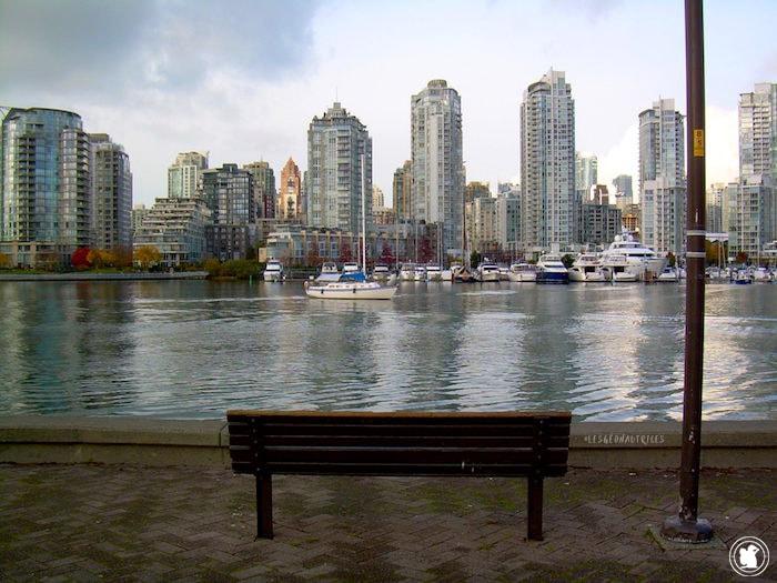 Vue sur downtown Vancouver