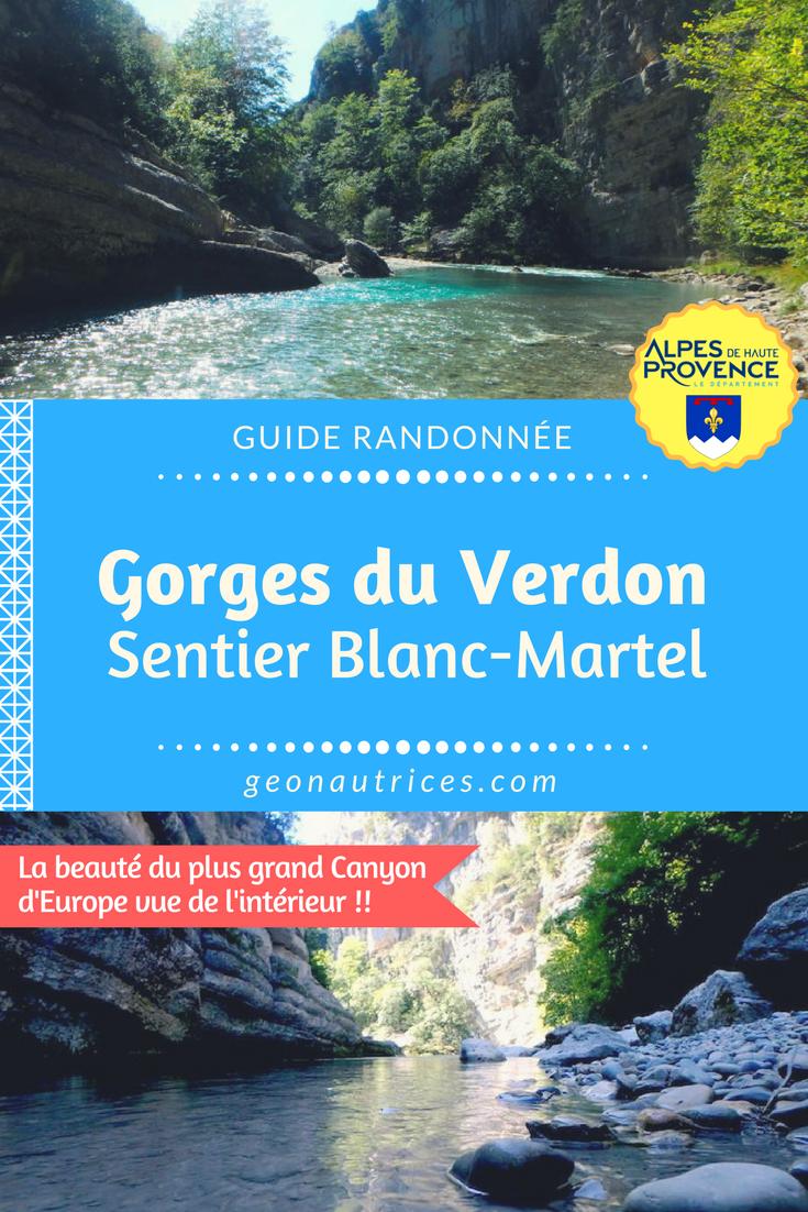 Le mythique sentier Blanc-Martel au cœur des Gorges du Verdon est une randonnée d'environ 15 kilomètre qui permet d'aller au plus près de la rivière du Verdon, de traverser des tunnels sombres et humide et de grimper ou descendre de très belles échelles. #randonnée #gorgesduverdon #provence