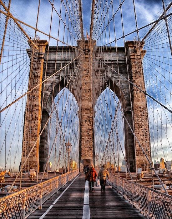 Sur le Brooklyn Bridge