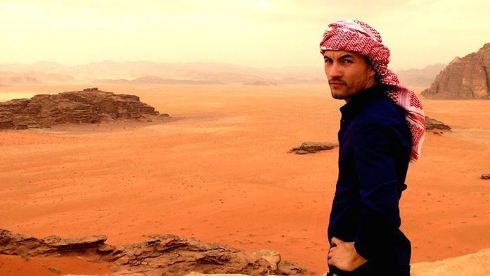 Alex Vizeo, blogueur voyage, en Jordanie