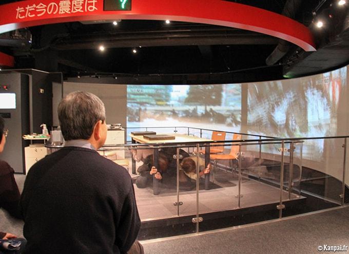 Simulateur de séisme à Ikebukuro, Tokyo (©Kanpai.fr)