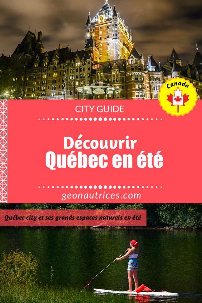 Découvrir Québec city en été, les lieux à voir en ville et aux alentours de la ville ! Prenez le temps et venez voir cet article si vous souhaitez aller à Québec entre le printemps et l'automne. #Quebec #Quebeccity #visitQuebec