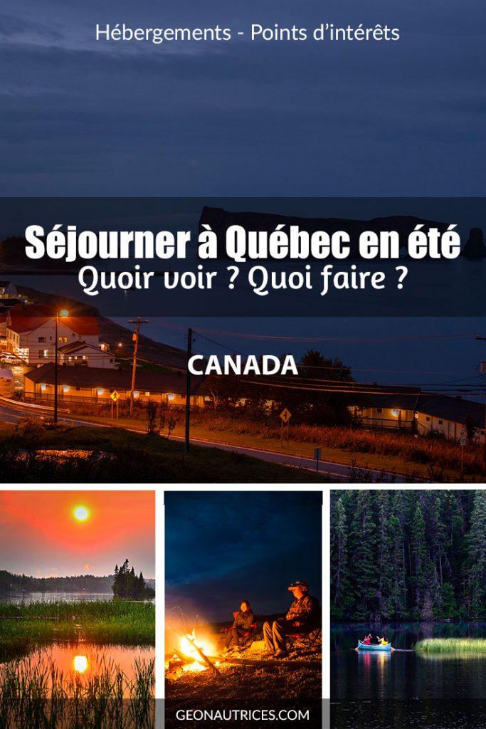 Vous souhaitez séjourner à Québec city quelques temps en été ? Il y a tellement de choses à voir, installez-vous confortablement et prenez de quoi noter pour préparer votre voyage à Québec ! #Quebeccity #Québecenété #VisitQuebec