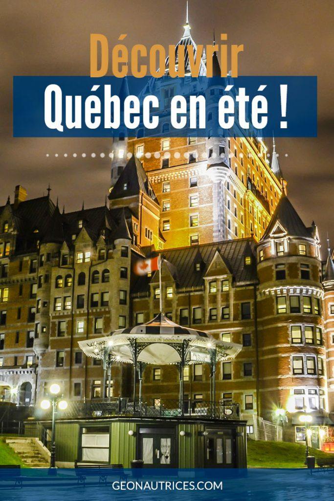 Vous allez visiter Québec en été ? vous avez raison, c'est une magnifique saison. Cet article vous aidera à trouver des activités à faire à Québec en ville et hors de la ville. Il y en a pour tous les goûts. #VisitQuébec #QuébecCanada
