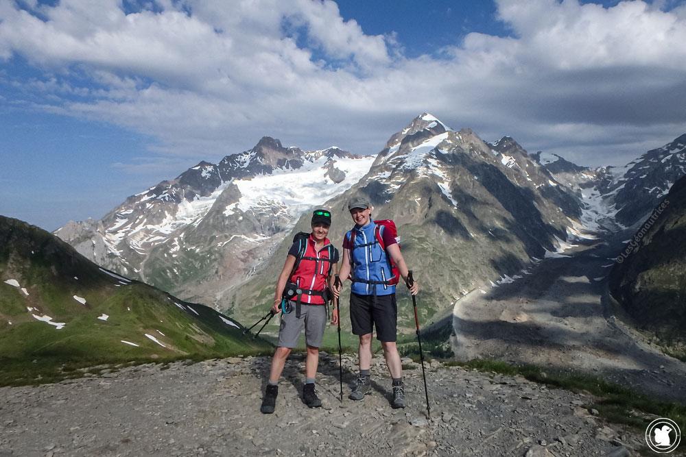 Candie et Enora - Aiguillette de Tré la Tête -Tour du Mont-Blanc à pied