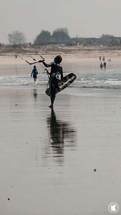 Kite surfer, Bretagne