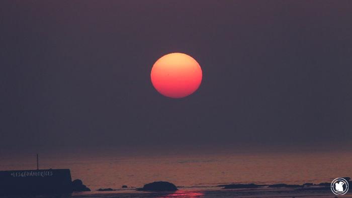 Soleil orange, Penmarc'h, Finistère sud, Bretagne