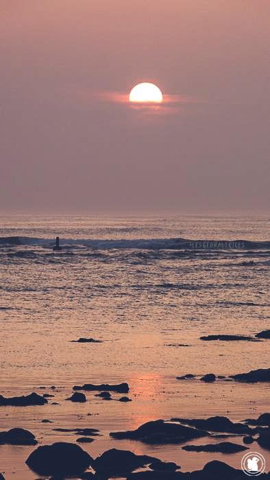 Un beau coucher de soleil depuis Penmarc'h, Finistère sud, Bretagne