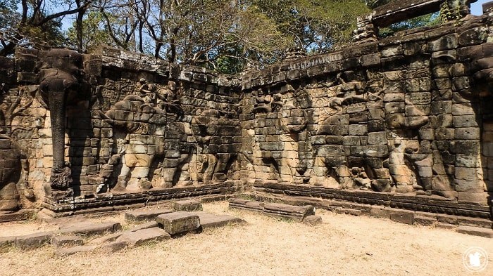 Terrasse des Éléphants, Angkor, Cambodge