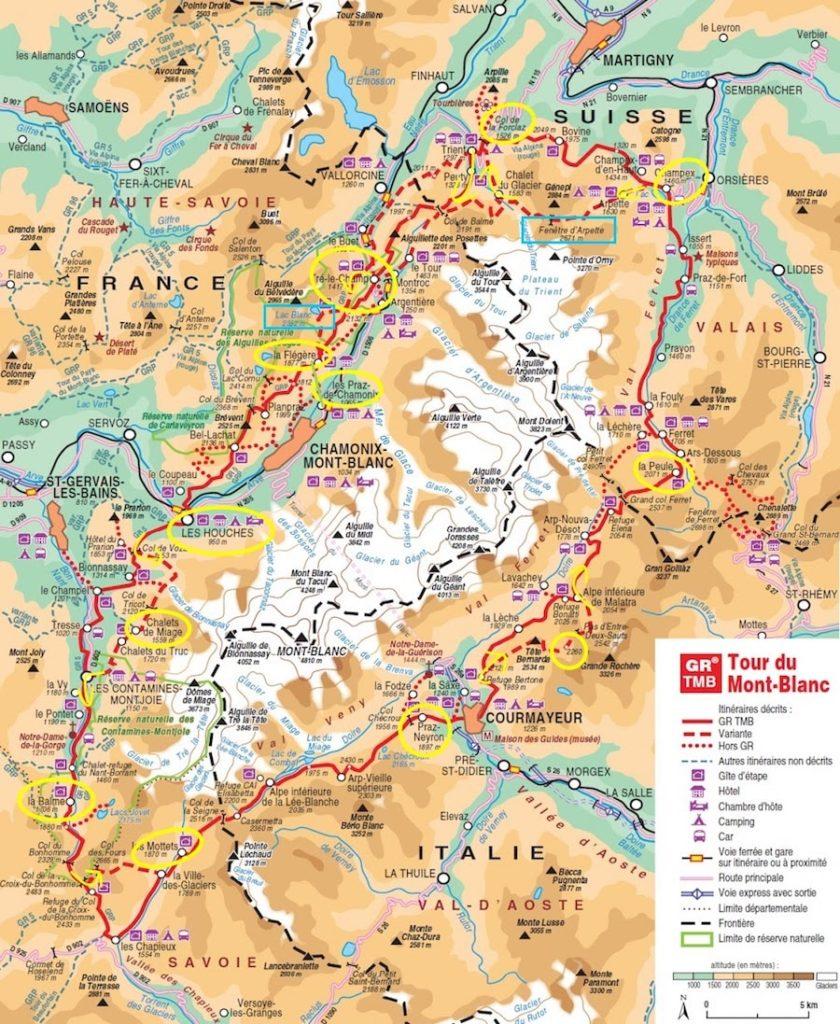 Itinéraire (re)faire le Tour du Mont-Blanc
