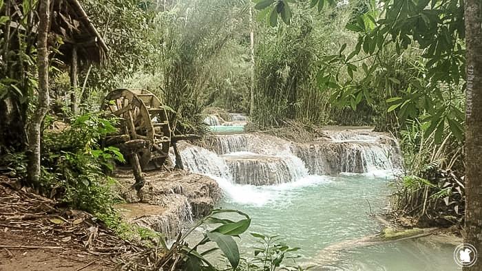 Kuang Si au Laos pendant le voyage de Candie