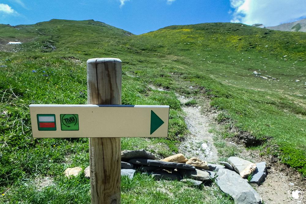 Signalisation du Tour du Mont-Blanc