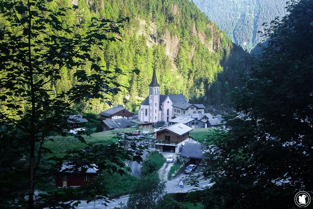 Village de Trient en Suisse