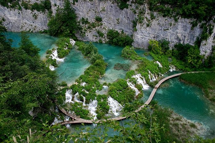 Le parc national des lacs Plitvice en Croatie