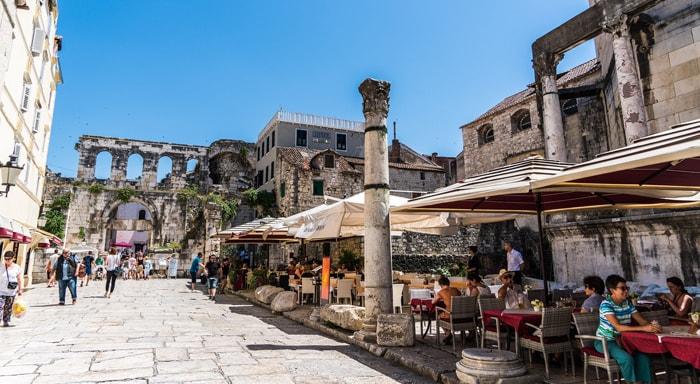 La ville de Split en Croatie