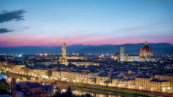 Vue sur Florence en Italie