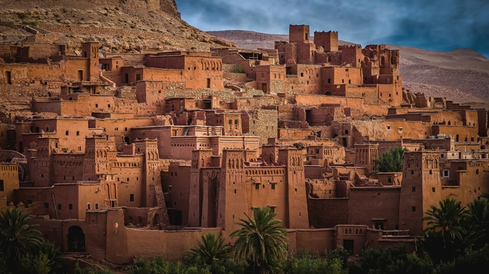 Ksar Aït-ben-Haddou au Maroc, dans la province de Ouarzazate. Inscrit au patrimoine mondial de l'UNESCO.
