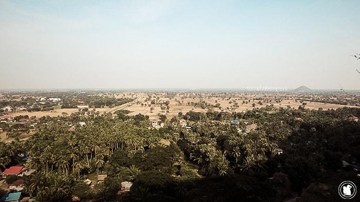 Vue depuis Wat Sampov à Battambang