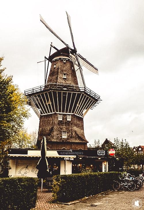 Moulin que l'on retrouve à côté de la brasserie Brouwerij't IJ