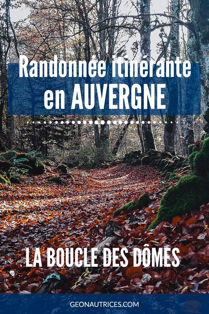 Randonnée itinérante de 49 km, arpenter les sentiers de la Boucle des Dômes, entre les volcans d'Auvergne. Découvrez tous les détails dans cet article. #randonnee #france #auvergne