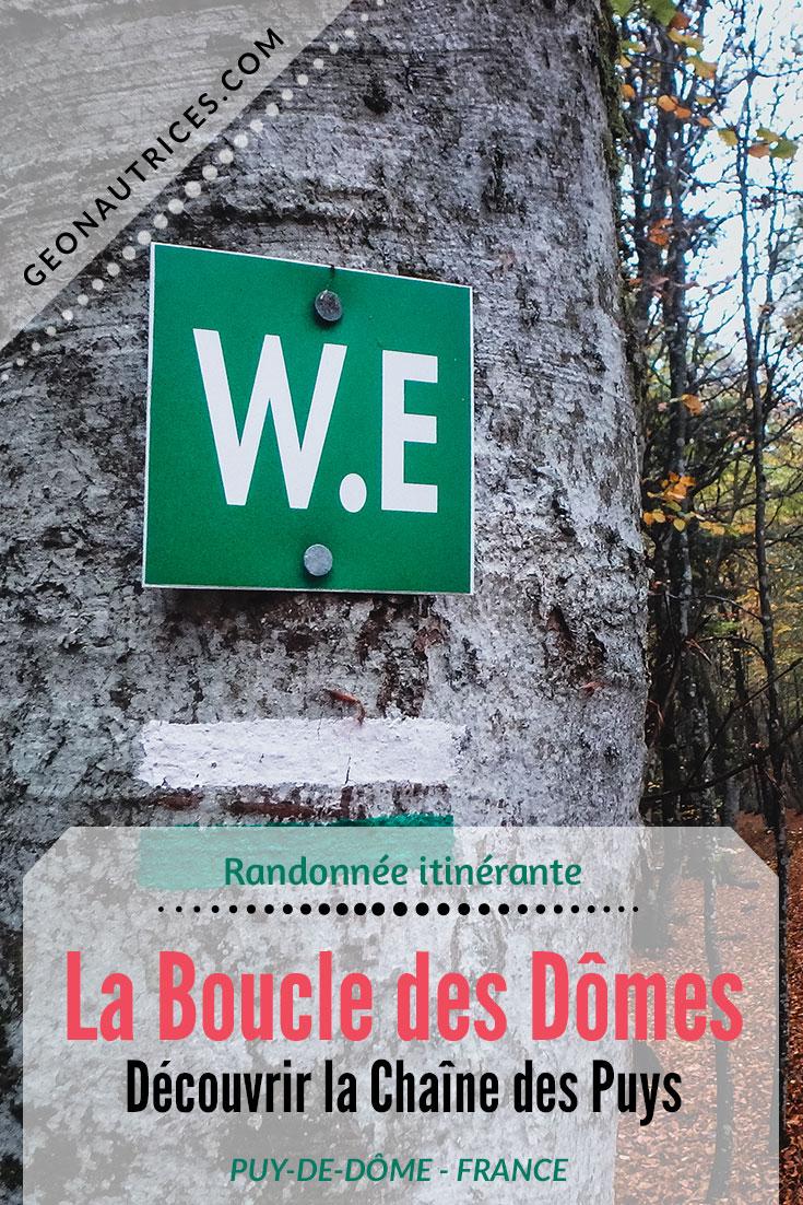 Randonnée de 2 ou 3 jours, 49 kilomètres, la Boucle des Dômes est facile et agréable ! Vous traverserez les volcans de la Chaîne des Puys et découvrirez des paysages magnifiques et divers tout au long de votre itinéraire. #france #randonnee #auvergne