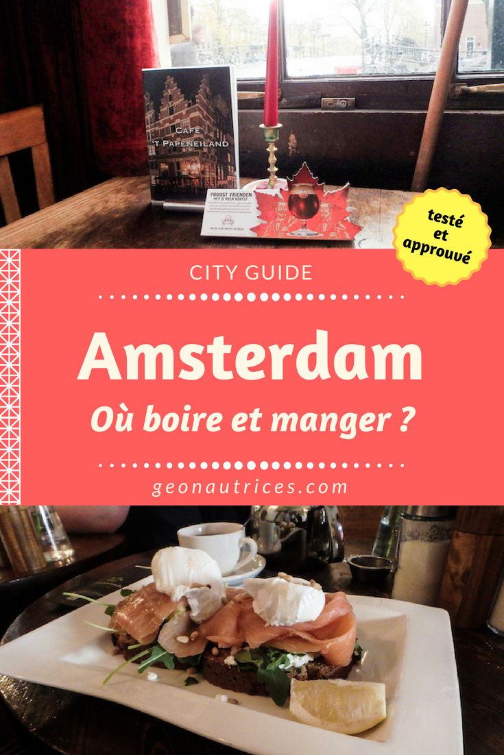 Où boire et manger à Amsterdam ? Nous tachons de vous apporter une sélection de café, bar et restaurants dans la capitale néerlandaise. Voici nos bonnes adresses à Amsterdam testées et approuvées. #Amsterdam #Europe #voyage