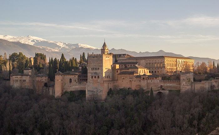 L'Alhambra à Granada en Andalousie