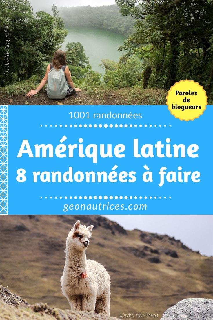 Huit blogueurs voyage vous présentent des randonnées en Amérique Latine qui valent le coup d'être découvertes. Du Costa Rica jusqu'à Ushuaïa, venez découvrir leurs sélections... #ameriquelatine