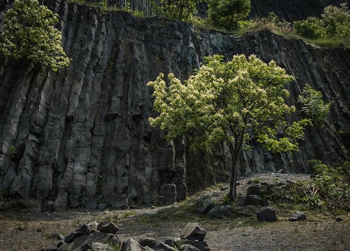 Hegyestu, colline volcanique de basalte dans la région du Balaton en Hongrie