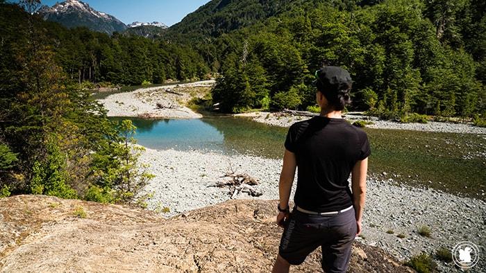 Point de vue pendant la randonnée Cajon del Azul