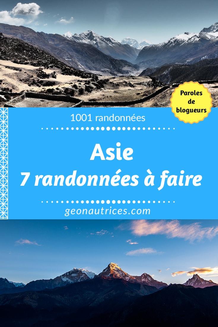En recherche d'inspiration pour faire une randonnée en Asie ? Ce ne sont pas les lieux qui manquent ni les paysages à voir ! On te donne 7 idées de randonnées à faire en Asie ! Va voir l'article ! #randonnée #trek #asie #japon #inde #chine #coredusud #nepal #indonesie