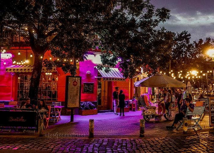 Quartier Palermo de nuit à Buenos Aires