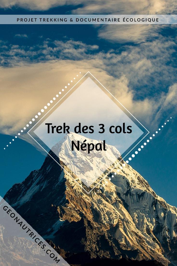 Projet Népal : en 2019 Candie se lance dans le projet de faire le trek des 3 cols au Népal mais pas que ! Elle prévoit de tourner un documentaire sur l'écologie sur les sentiers de randonnée au Népal. Soutenez ce projet en allant sur l'article !! On compte sur vous ! #Nepal #trek #documentaire #ecologie