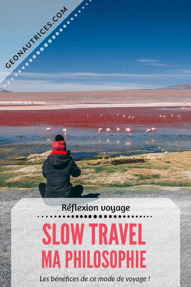Le slow travel ou voyage lent est une philosophie de voyage qui a de nombreux bénéfices. Je vous explique dans cet article ce mode de voyage et pourquoi je l'aime. Et vous, quelle est votre façon de voyager préférée ? #slowtravel #voyage #reflexion
