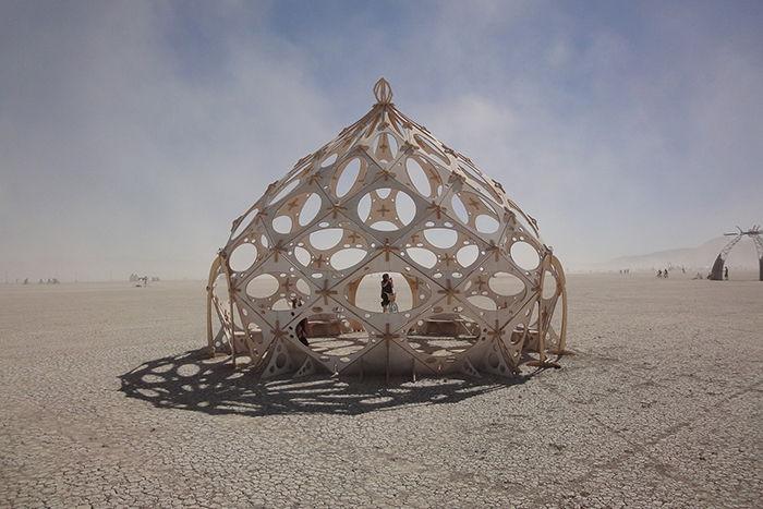 Le Burning man dans le désert de Black Rock