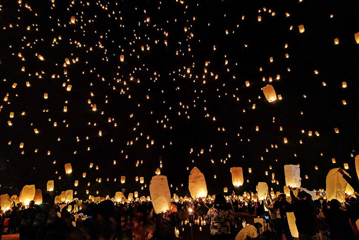 Festival des lanternes en Thaïlande