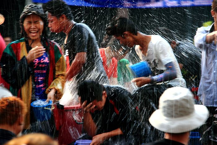 Fête de l'eau en Thaïlande