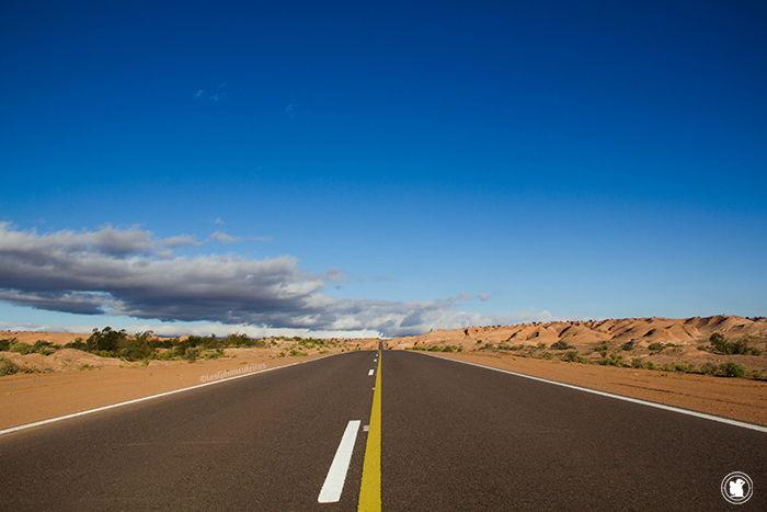 Sur la route dans la province de Mendoza, en Argentine