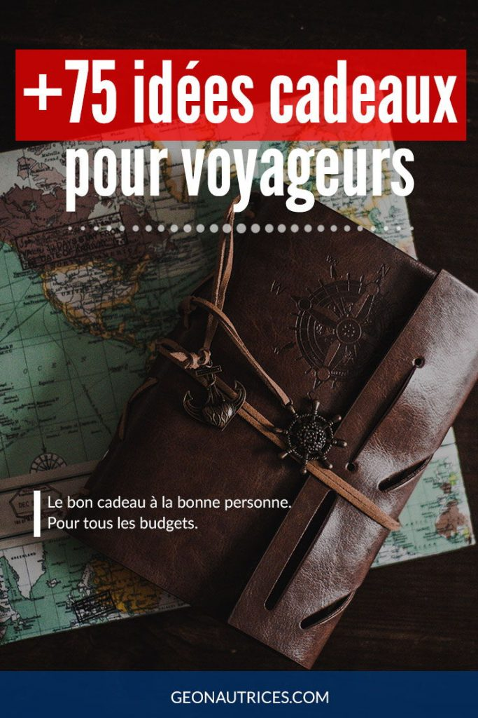 +75 idées cadeaux pour voyageurs !  De l'utile, du gadget, de la déco, de la lecture, il y en a pour tous les goûts et tous les budgets !  Cette liste a été élaborée par et pour des voyageurs ! Soyez assurés de faire plaisir !  #cadeaux #noel #anniversaire #voyageur