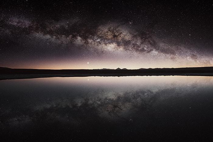 Ciel etoilé au désert d'Atacama