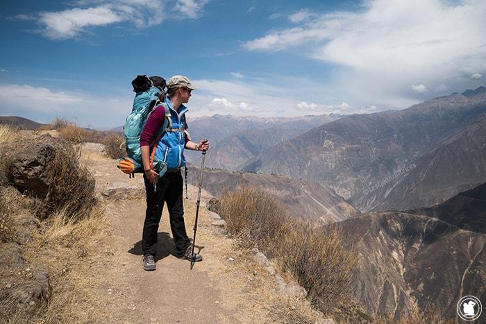Enora au Canyon de Colca