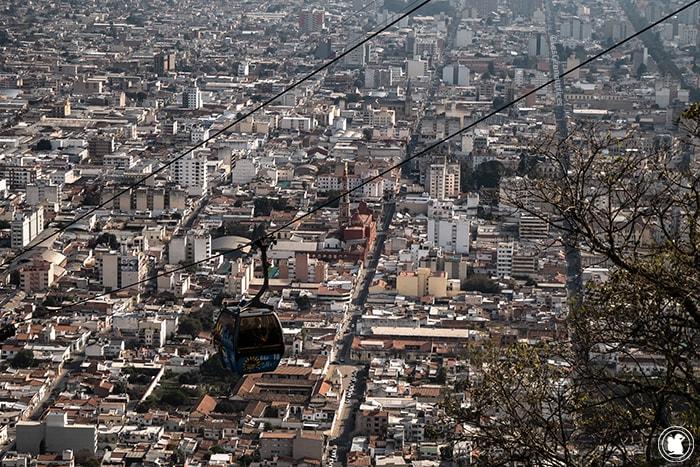 Salta depuis le Cerro San Bernardo
