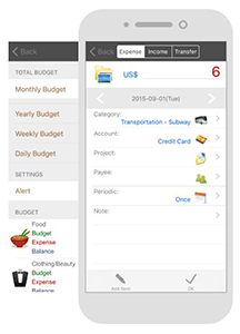 Andromoney, application de gestion de budget