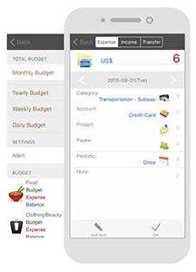 Andromoney, application de gestion de budget