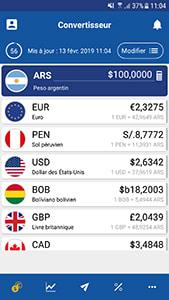 Application voyage xe currency convertisseur de monnaie