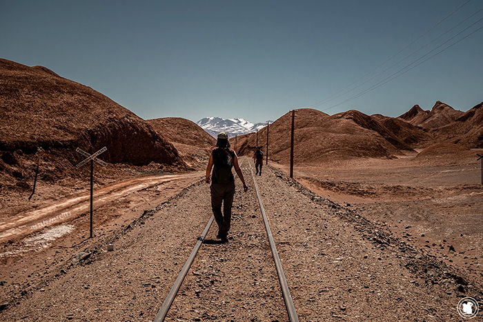 Balade sur la voie de chemin de fer de Tolar Grande