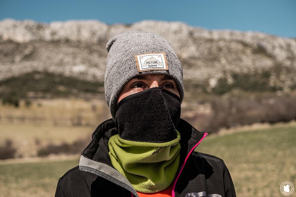Équipement pour un trek au Népal - Bonnet Picture Organic Clothing et tour de cou Chaud-Devant
