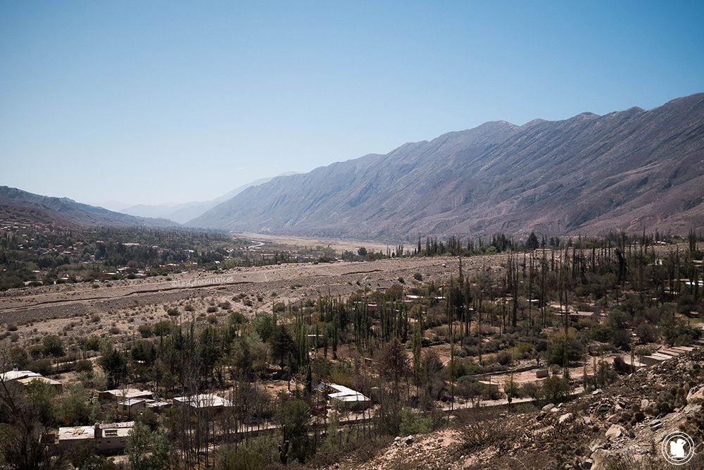 Vue sur la vallée d'Humahuaca depuis la Pucara de Tilcara
