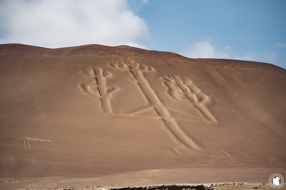 Candelabra sur la péninsule de Paracas